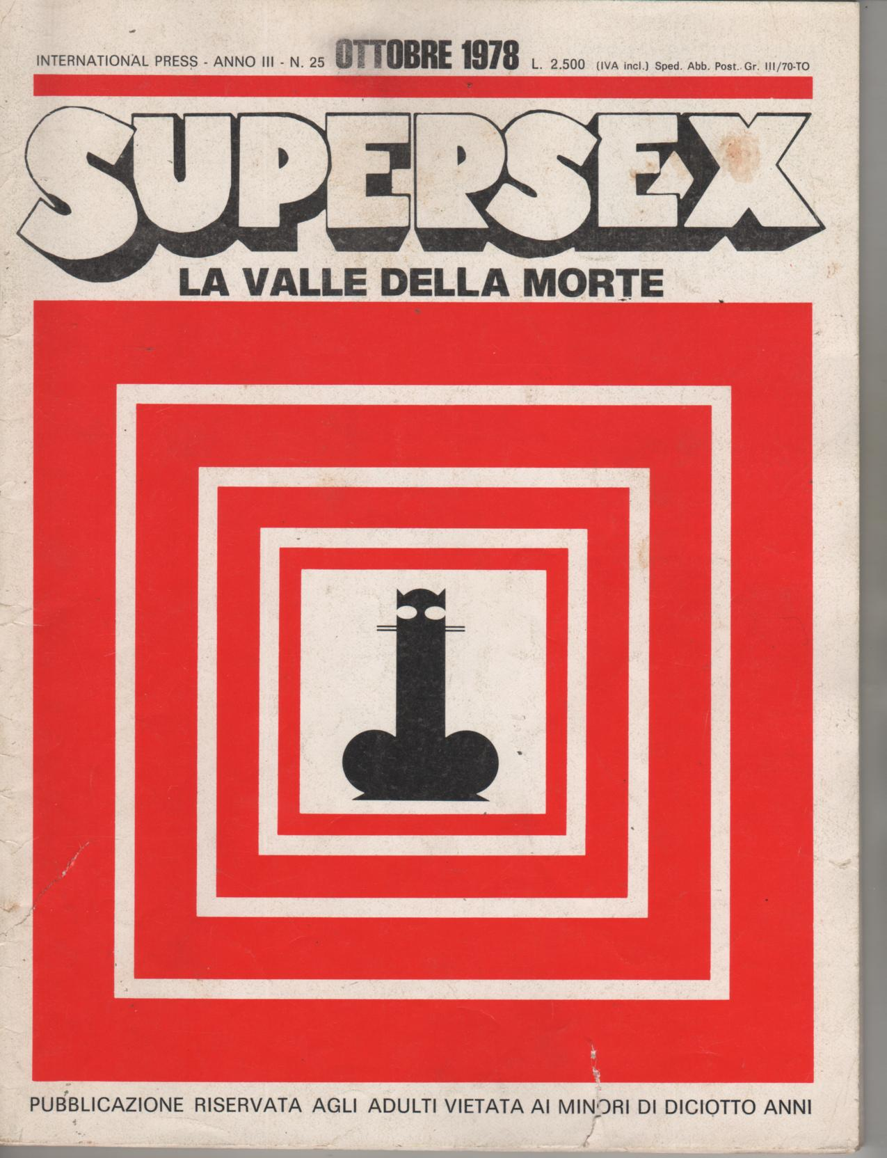 SUPERSEX  N. 25    LA VALLE DELLA MORTE