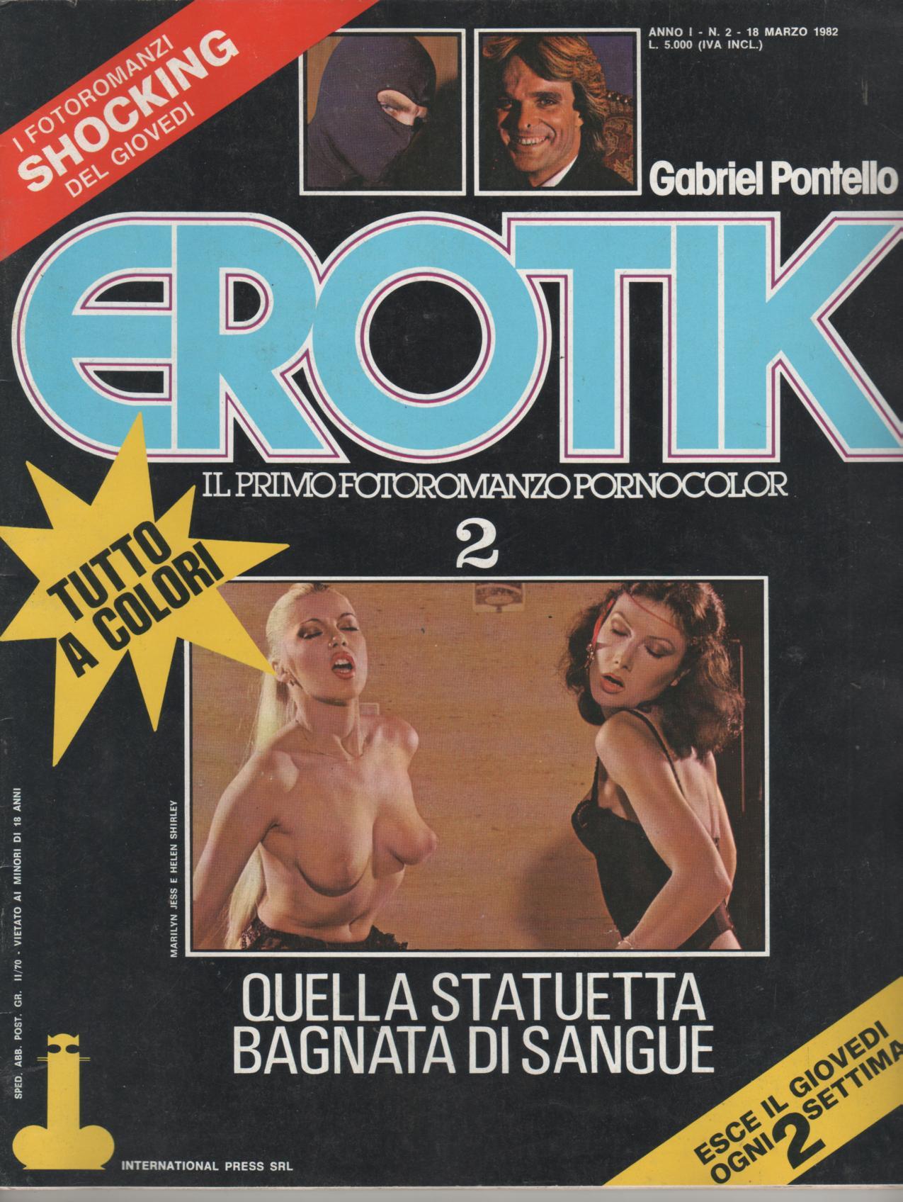 EROTIK  N. 2    QUELLA STATUETTA BAGNATA DI SANGUE