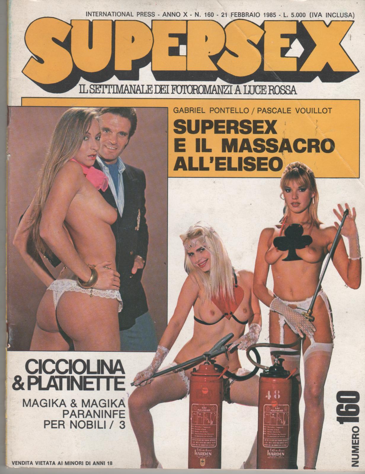 SUPERSEX  N. 160   SUPERSEX E IL MASSACRO ALL' ELISEO