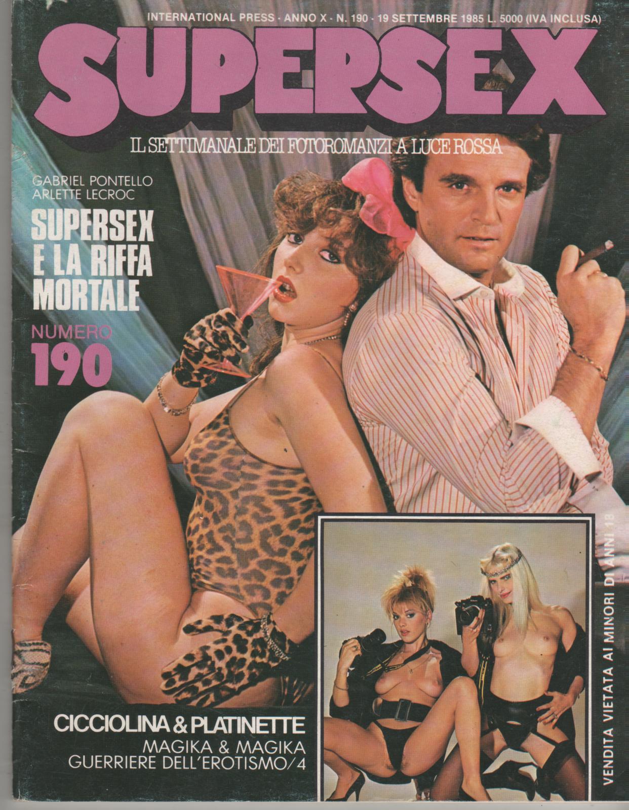 SUPERSEX  N. 190   SUPERSEX E LA RIFFA MORTALE