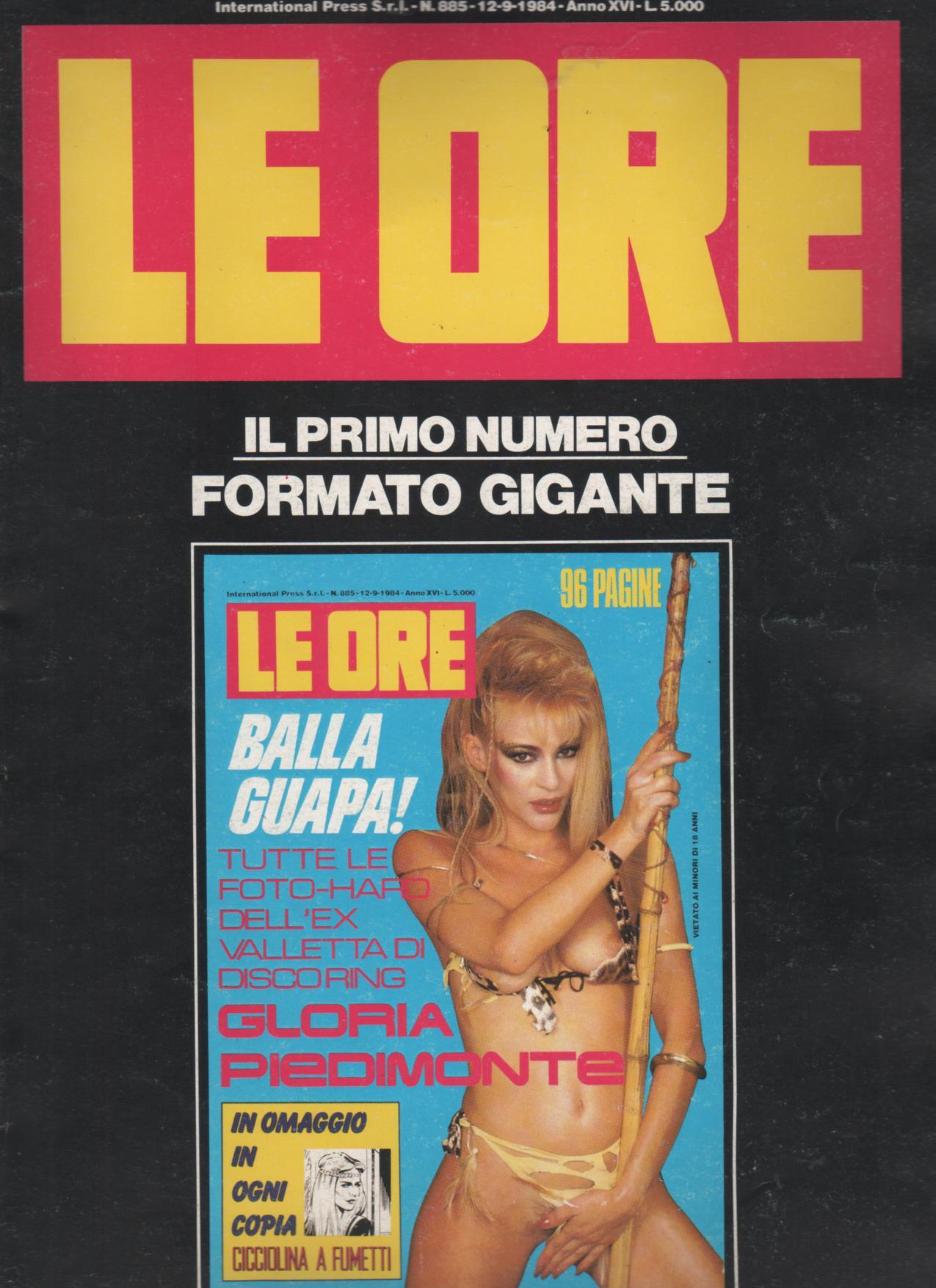 LE ORE  # 885 / 1984  con  GLORIA PIEDIMONTE la guapa HARD