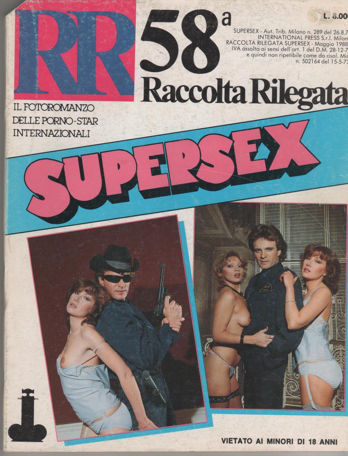 SUPERSEX  RR   raccolta rilegata  N. 58    contiene 229 e 230