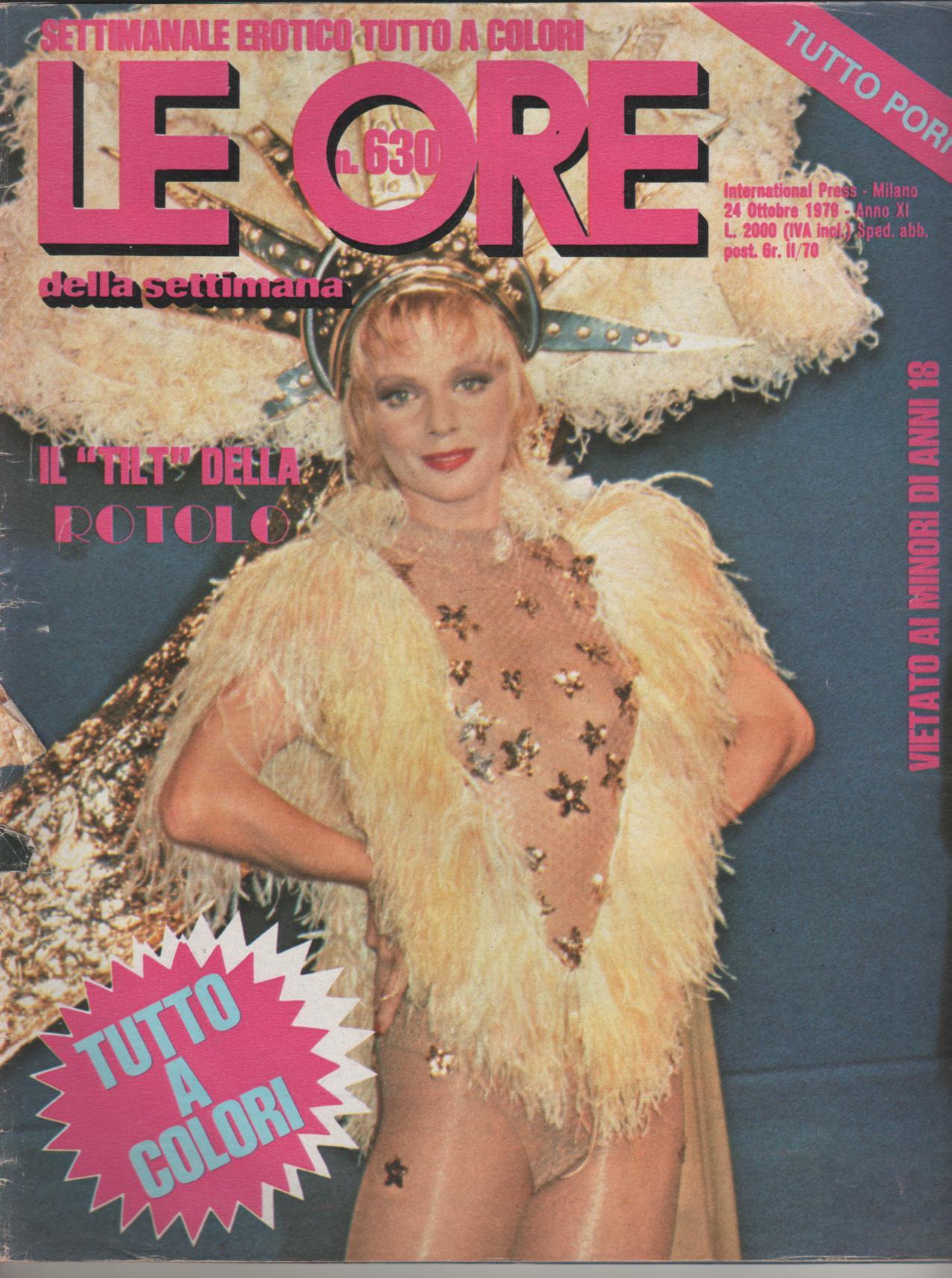 LE ORE  # 630 / 1979  STEFANIA ROTOLO softcore