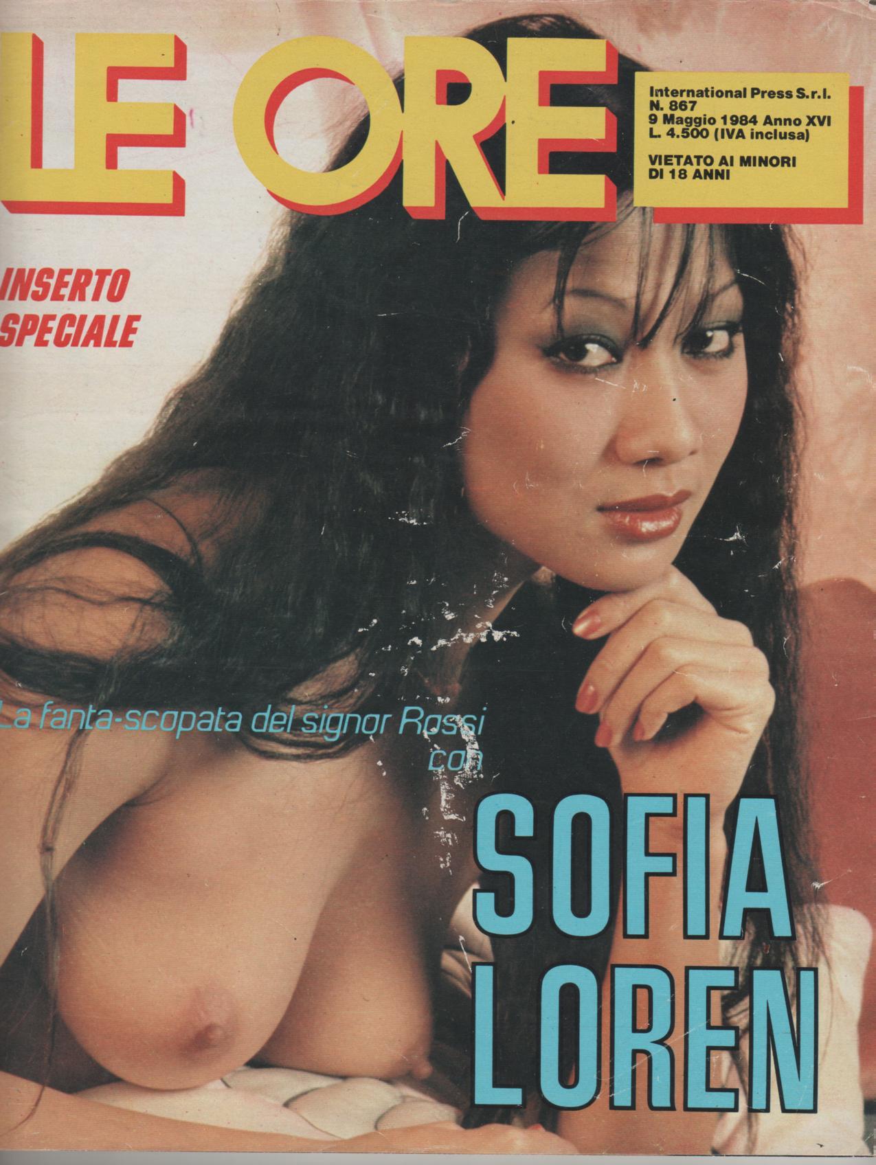 LE ORE  # 867 / 1984  fantascopata con SOFIA LOREN