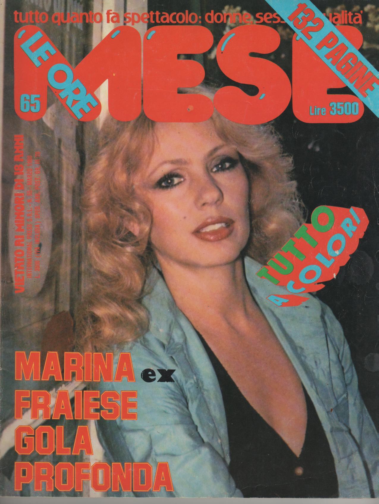 MESE LE ORE  # 65  / 1980  con  MARINA HEDMAN FRAIESE LOTAR