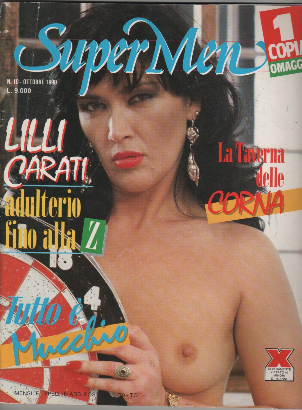 SUPER MEN 10/1990 LILLI CARATI come godo se mi palpi sulla moto