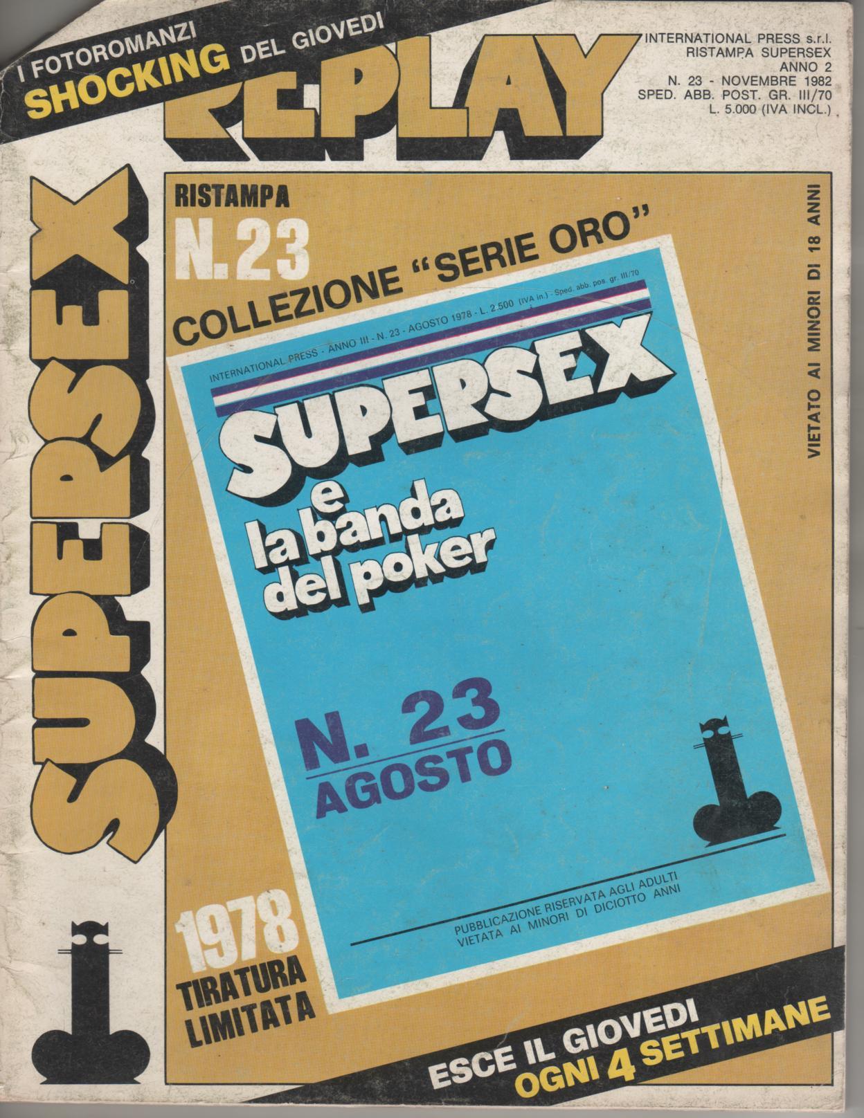 SUPERSEX  replay  N. 23    SUPERSEX E LA BANDA DEL POKER