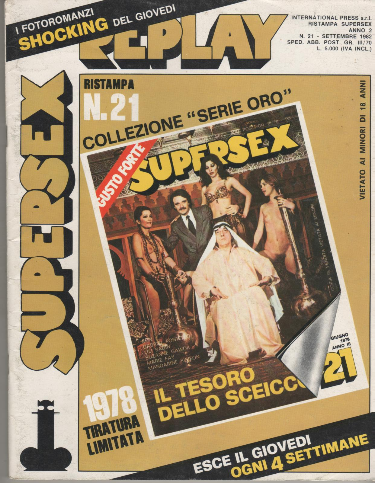 SUPERSEX  replay  N. 21    IL TESORO DELLO SCEICCO